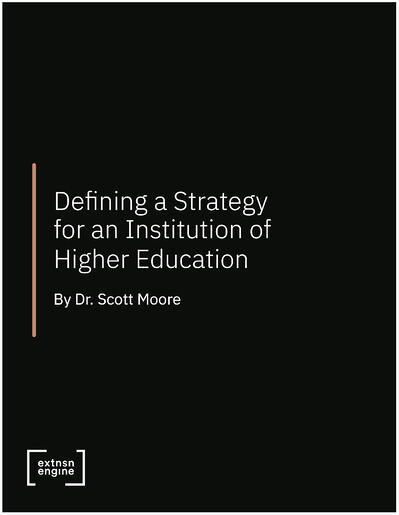 [WHITE PAPER COVER] Defining a Strategy for an Institution of Higher Education (Higher Ed)