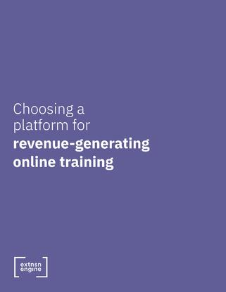 [WHITE PAPER COVER] Choosing a Platform for Revenue-Generating Online Training