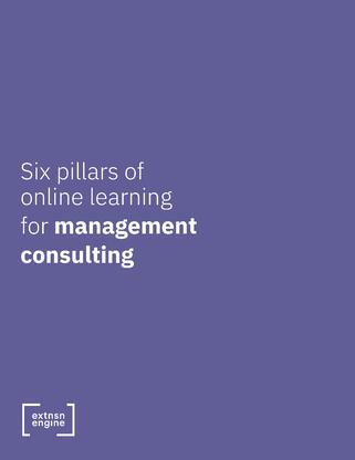[WHITE PAPER COVER] Six Pillars of Online Learning for Management Consulting