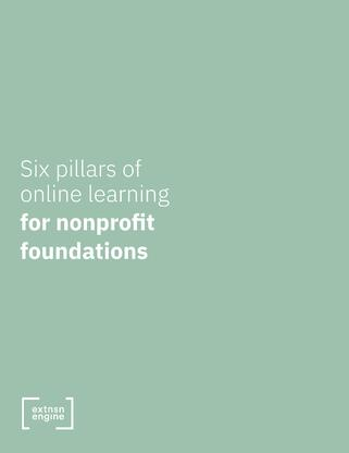 [WHITE PAPER COVER] Sx Pillars of Online Learning for Nonprofits