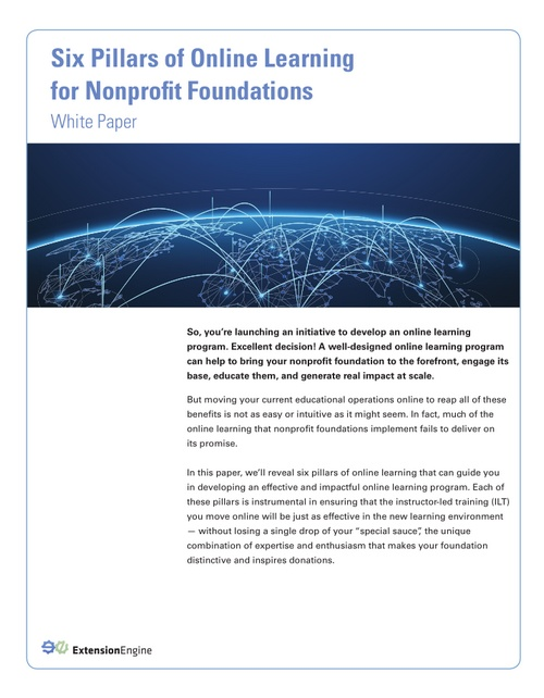 six-pillars-online-learning-nonprofit-foundations